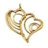 Bronze Pendant Double Heart 32x30mm